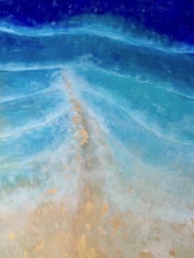 Huge Ocean Spray Resin Finished Acrylic