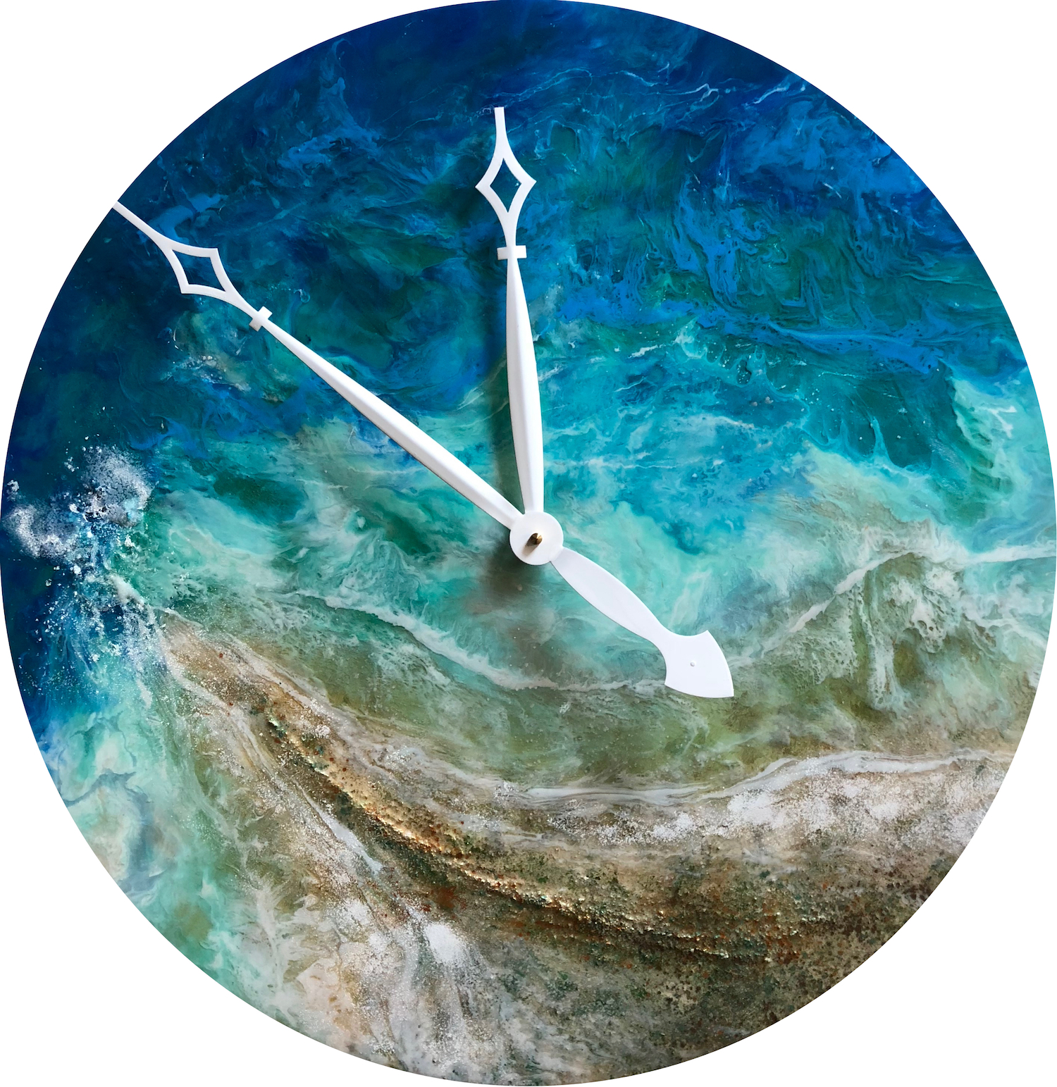 The Aubrey Clock Resin Pour Painting With Functional
